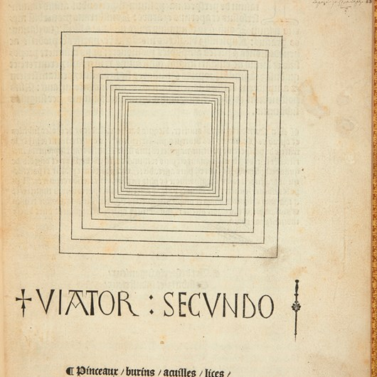 Artificiali P[e]rspectiva. Viator Secundo. Toul, Pierre Jacobi, 1509.