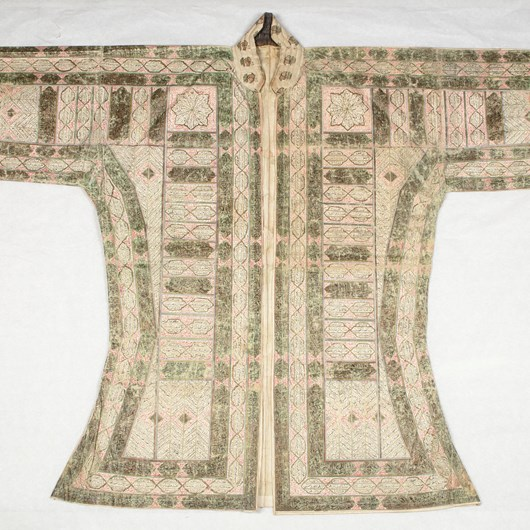 Important Talismanic Shirt (Jama) With Protection Prayers Giving the Names of the Twelve Imams North India or the Deccan, 17th Century, Height 86 cm.