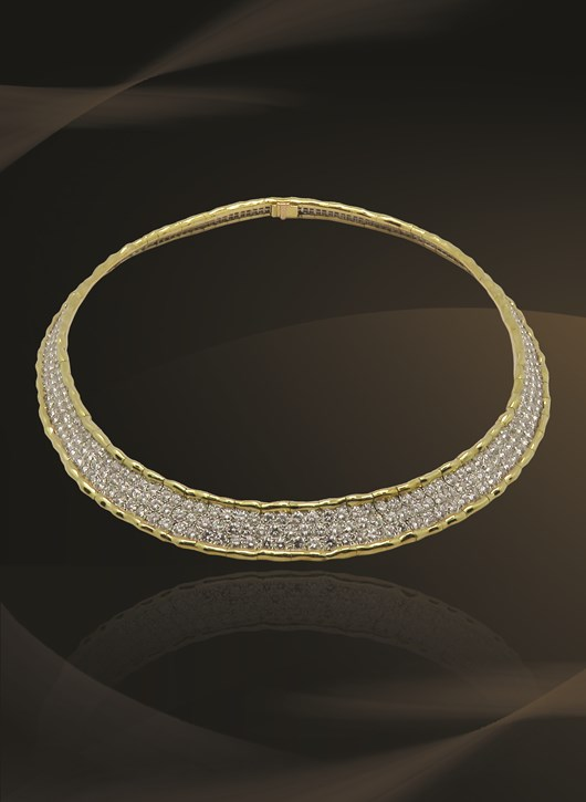 Magnificent Van Cleef & Arpels Diamond Yellow Gold Flexible Necklace