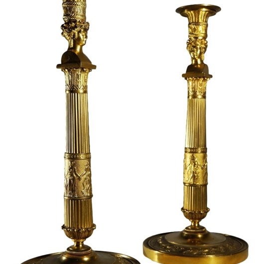 "Pair of candlesticks ""Josephine's bust"" by Thomire"