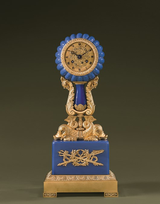carved and gilded Bronze Clock