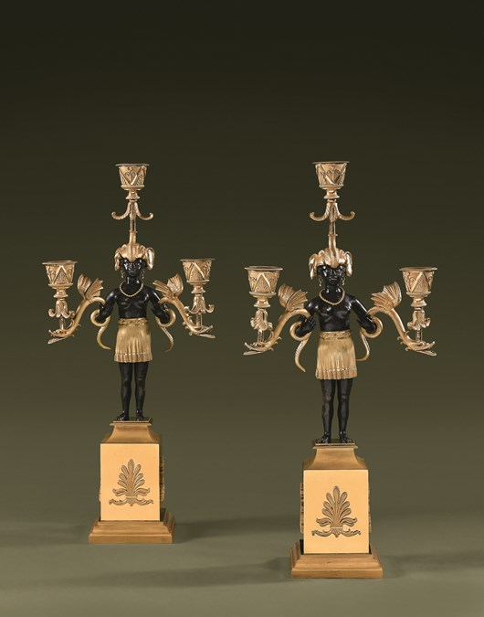 Rare pair of Directoire candelabra by Jean-Simon DEVERBERIE.